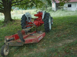 Bush Hog and tractor that look similar to ours. (Photo credit)