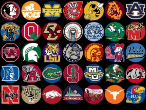 NCAA sports logos. Are they for grownups, or do they drive us crazy? (Image credit)