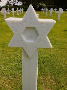 The grave of Sgt. Elmer Rosner of Arizona, who died on July 8, 1944.