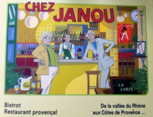 Chez Janou Bistro in the Marais section of Paris, where we met a lovely couple about the age of my children.