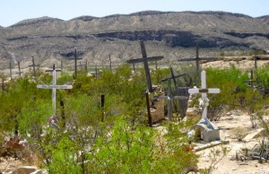 A sample view of the Terlingua Cemetery. It's worth a trip to the town just to see the cemetery.