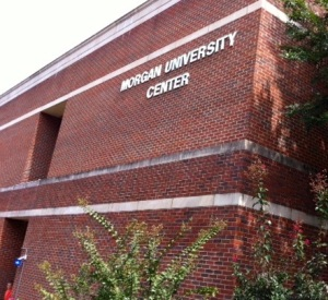 APSU's impressive Morgan University Center where my book signing was held.