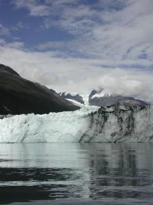 Harvard Glacier in Prince William Sound, melting ever faster as Alaska warms up.