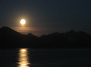 Moonrise over Seward on a magnificent September evening.