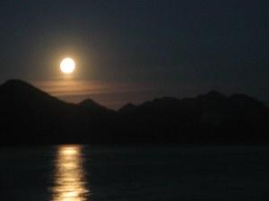 Moonrise over Seward on a magnificent September evening.