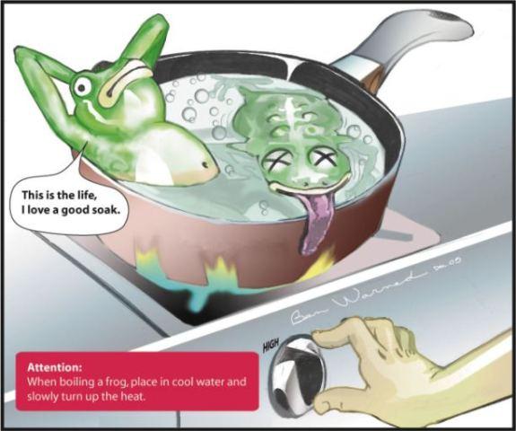 The Boiled Frog Metaphor. (Source.)
